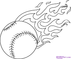 baseball flaming baseball u2013 cool get this coloring page