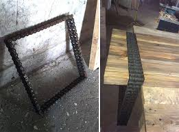 Old Wooden Coffee Tables by We Turned Old Wood And Rusty Chain Into A Coffee Table Bored Panda