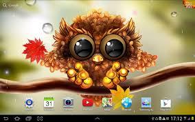 autumn little owl wallpaper android apps on google play