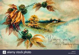happy thanksgiving card wishing you a happy thanksgiving vintage card with country scene