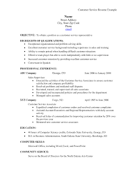 Customer Service Jobs Resume Customer Service Skills Examples For Resume Resume Example And