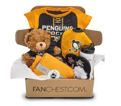 Pittsburgh Gift Baskets Pittsburgh Penguins Baby Gift Box Penguins Baby Gear