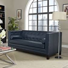 Blue Leather Sofa by Havelock Leather Sofa Traditional Sofas Horchow Couches