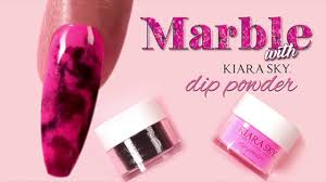 marble nail art tutorial with dip powder youtube