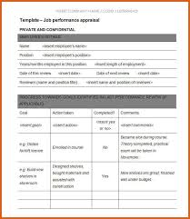performance appraisal form apa examples