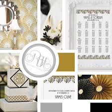 Wedding Program Board Rbh Designer Concepts Art Deco Stationery Invite Rsvp Save
