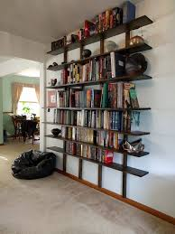 5 Foot Wide Bookcase How To Make And Install Hungarian Shelves 6 Steps With Pictures