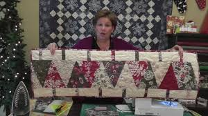 make a christmas table runner using the large wedge tool youtube