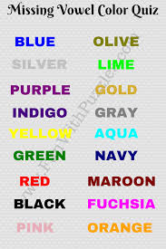 missing vowels game can you guess the colors