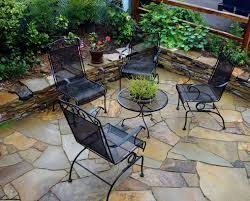 Front Patio Design Front Yard Brick Patio Exterior And General Landscaping