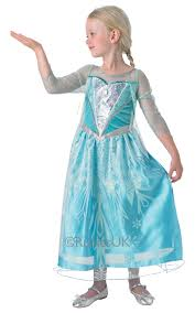 elsa costume kids disney frozen premium princess elsa fancy dress childs