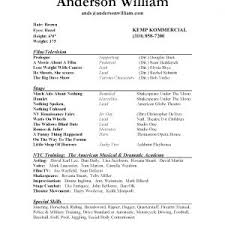 professional acting resume template daily format actors best