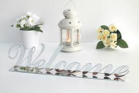Welcome Home Decor Welcome Sign Table Decor Silver Welcome Sign Welcome Wedding