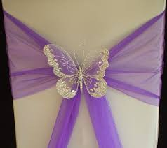 xlarge butterfly wedding chair sash decoration top table gold