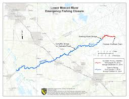 China River Map by Emergency Regulations To Close Merced River Angling Now In Effect
