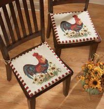 French Country Chair Cushions - rooster chair cushions home u0026 garden ebay