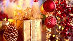 and new year gifts and decoration abstract blurred