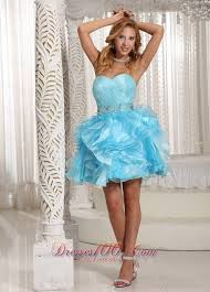 ruffled pleated baby blue short party holiday prom dress short