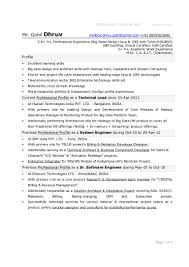 Programmer Resume Examples by 1 Year Experience Resume Format For Java Contegri Com