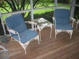 Retro Patio Furniture Sets Vintage Wrought Iron Patio Furniture Set Grapes Design And Large