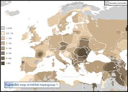 middle east map hungary distribution maps of mitochondrial haplogroups in europe the