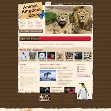 zoo brochure template kingdom zoo animals or pets html template