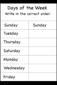 days of the week u2013 1 worksheet days of the week pinterest