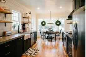 joanna gaines farmhouse kitchen with cabinets is black the next big kitchen trend design studio