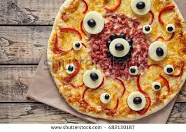monter cuisine scary food pizza stock photo 482130187