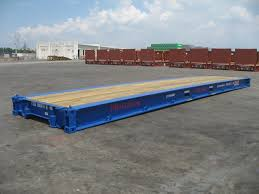 shipping container 40 u0027 flat rack bolster yacht transport