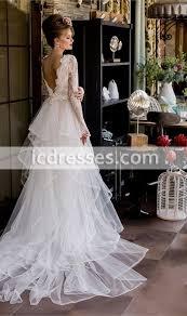see through long sleeve lace mermaid wedding dresses 2016