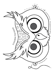 free owl template printable coloring home