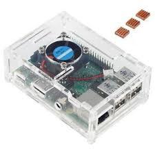 raspberry pi heat sinks acrylic clear case fan heat sink for raspberry pi 3 2