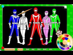 free power ranger coloring pages kids