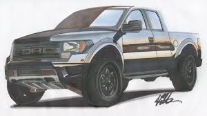 truck ford raptor drawn truck ford f 150 pencil and in color drawn truck ford f 150