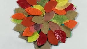 how to make fall autumn paper trees simple kids craft activity