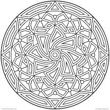 printable geometric designs coloring pages for kids and adults