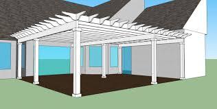 Pergola Ideas For Patio by Exterior Design White Pergola Plans On Brown Floor For Patio Ideas