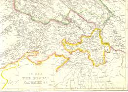Punjab India Map by 1863 Punjab U0026 Kashmir India Map By Weekly Dispatch Hand Coloured