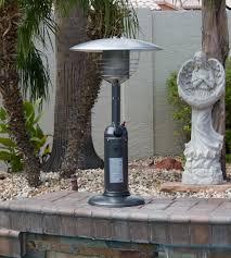 Outdoor Tabletop Patio Heater by Outdoor Tabletop Patio Heater Hammered Silver Finish Tabletop
