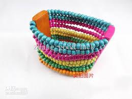 bead bracelet styles images 2018 bohemian style wooden bead bracelets ten rows four colors jpg