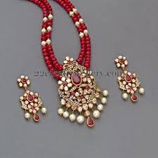 bead jewelry necklace designs images Ruby beads set with designer locket beads designers and indian jpg
