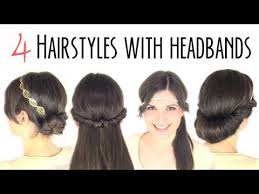 simple hairstyles with one elastic easy hairstyles with headbands youtube