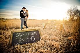 save the date signs rustic farm engagement session two bright lights