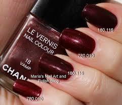 marias nail art and polish blog chanel rouge noir 18 vamp 18 5