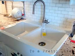 home design appealing ikea farmhouse sink for your kitchen design interesting tile backsplash with ikea farmhouse sink and granite countertop plus tile backsplash