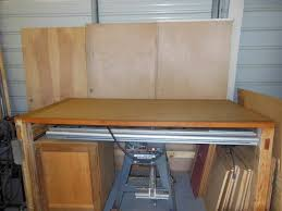 Solid Core Door Desk Any Suggestions On A Good Way To Wall Mount A Table Saw To Keep It