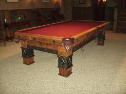 custom made dining room tables custom made pool table by braddee metal works u0026 design
