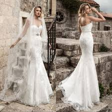 strapless wedding dresses lace mermaid wedding dresses 2018 strapless applique beaded