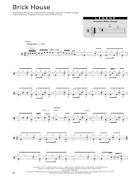 brick house sheet music by commodores drums transcription u2013 176343